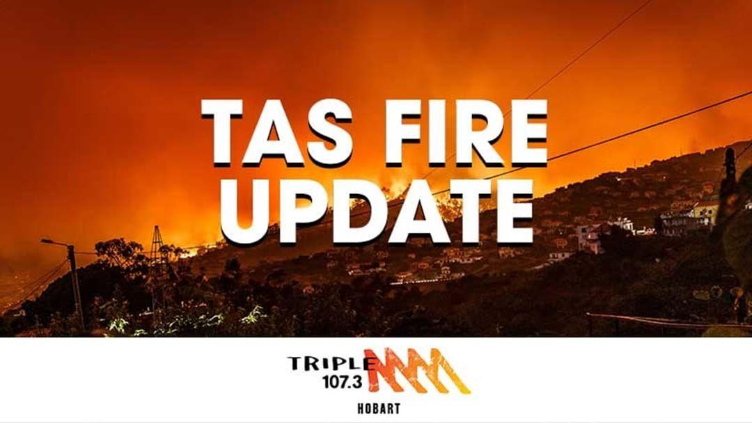 Article heading image for Tas Bushfires Update 260119