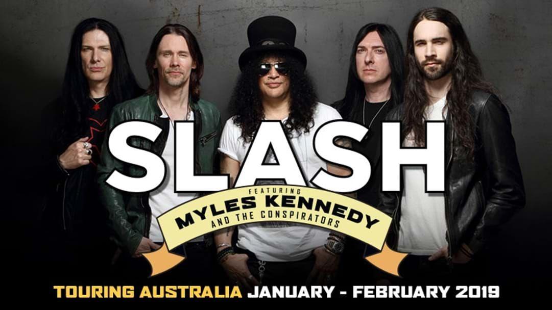 Slash soundcheck and ticket giveaway!